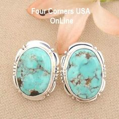 Four Corners USA Online Native American Artisan Jewelry - Dry Creek Turquoise Stone Native American Navajo Sterling Post Earrings by Artisan Jane Francisco NAER-1429, $185.00 (http://stores.fourcornersusaonline.com/dry-creek-turquoise-stone-native-american-navajo-sterling-post-earrings-by-artisan-jane-francisco-naer-1429/)
