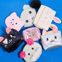 Imposible elegir un solo monedero!  #Todomoda #Animales #Animalitos #Cute #Monederos #Accesorios #Koala #Panda #Gatito #Perro #Conejo
