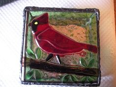 Stained Glass Box with fused glass lid.