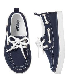 Loving this Champion Navy & White Boat Shoe - Toddler on #zulily! #zulilyfinds
