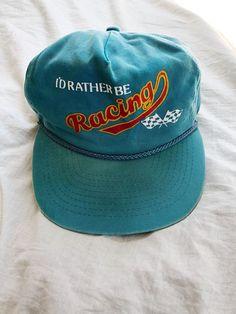 f87a18be05e Motocross Hat VTG 80s BMX Snapback Vintage Nascar Id Rather Be Racing Moto  Cap  Unbranded  BaseballCap  bmx  motocross  nascar  vintagenascar  vintage  ...
