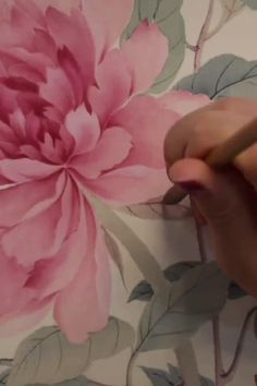 Acrylic Flowers, Watercolor Flowers, Watercolor Paintings, Peony Painting, Texture Painting, Fabric Painting, Asian Flowers, Hand Painted Fabric, Acrylic Painting Techniques