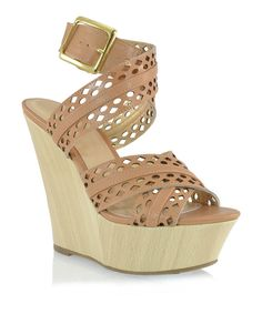 Take a look at this Shoe Republic LA Camel Clare Wedge Sandal on zulily today!
