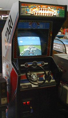 Atari's Pole Position—One of the most memorable arcade driving games. #retrogaming #arcade #oldschool