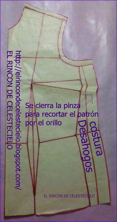 Cerrar la pinza de costado al cortar el patrón Diy Clothes, Color Mixing, Athletic Tank Tops, Tank Man, Sewing, Crochet, Pattern, Mens Tops, Saris