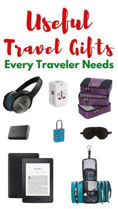 Looking for practical gifts for travelers for the holidays? Here are the useful travel gifts that every traveler needs. #travelgifts