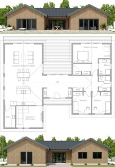Architecture House Plan, Home Plans, Planta de Casa, Casa Pequena Sims House Plans, House Layout Plans, New House Plans, Dream House Plans, Modern House Plans, Small House Plans, House Layouts, House Floor Plans, Dog Trot House Plans