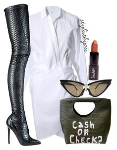 """Untitled #4274"" by stylistbyair ❤ liked on Polyvore featuring Christian Louboutin and Thierry Mugler"