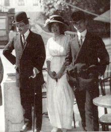 Дягилев слева, справа Вацлав Нижинский.