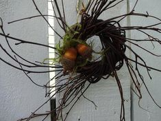 Acorn Wreath, Twig Wreath, Pumpkin Wreath, Autumn Wreaths For Front Door, Fall Wreaths, Square Wreath, Thanksgiving Wreaths, Thanksgiving Decorations, Fall Door Decorations