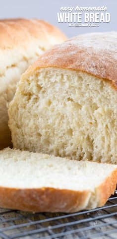 This EASY Homemade White Bread recipe is made from scratch. It makes two loaves and is the perfect sandwich bread! Making homemade bread is easier than you think. #AD