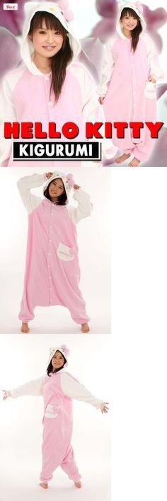 Japan Sazac Original Kigurumi Pajamas Halloween Costumes Sanrio Hello Kitty Pink, What is kigurumi? Kigurumi is the name for costumed   characters. The name comes from the Japanese verb kiru (to   wear) and noun nuigurumi (stuffed toy) As part of the Japanese   Pop culture th..., #Apparel, #Women