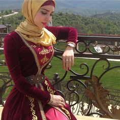 Chechen in traditional outfit