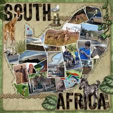 ~take ENC's pictures and scrap a page like this in the shape of Africa or of Guinea