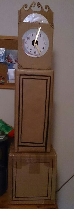 Cardboard grandfather clock