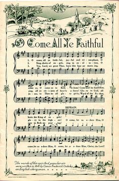 Christmas sheet music to print for art projects