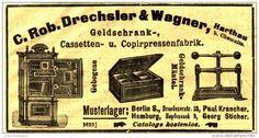 Original-Werbung/Anzeige 1903 - GELDSCHRANK- CASSETTEN-UND COPIRPRESSENFABRIK DRECHSLER & WAGNER/ HARTHAU-ca.100 x 45 mm