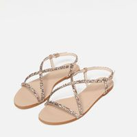 Image 7 of STRAPPY SANDALS WITH GEM DETAIL from Zara