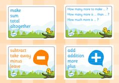 Twinkl Resources >> Maths Vocab Signs Posters >> Printable resources for Primary, EYFS, KS1 and SEN.  Thousands of classroom displays and teaching aids! Numeracy, Maths, Signs, Posters, Display