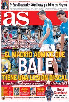 Los Titulares y Portadas de Noticias Destacadas Españolas del 13 de Octubre de 2013 del Diario Deportivo AS ¿Que le pareció esta Portada de este Diario Español?