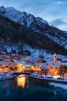 Pietraporzio Winter Nightscape - Valle Stura - Italy