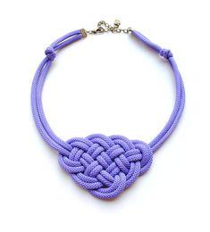 Violetten Knoten Kette Seil Schmuck nautischen von elfinadesign, $21.00