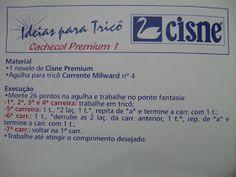 Receita de Tricô: Cachecol Premium