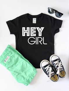 Etsy ' Hey Girl ' Tee. | Toddler | Tee | Shirt | Clothes | Outfits | Hipster | Trendy | Cool | Stylish | Boy |