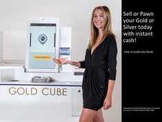 Sell or pawn your gold and silver today for instant cash at Goldcube Kiosk. Download the goldcube app to buy gold and silver at best market rates. #goldatm #gold #silver #jewelry Silver Today, Buy Gold And Silver, Gold Atm, Instant Cash, Kiosk, Cube, Silver Jewelry, App, Instant Money