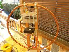 Copper pipe transmitting loop.