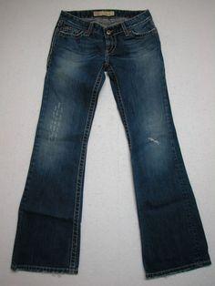BKE Jeans STELLA  Sz Tag 27X31.5  Bootcut Jeans 100% Cotton (MEASURES 28 X 31) #BKE #BootCut
