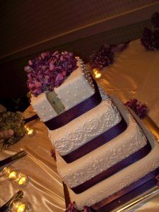 Art Eats Bakery custom fondant wedding and birthday cake designs, pictures and recipes: November 2008 Purple Cakes, Purple Wedding Cakes, Elegant Wedding Cakes, Wedding Cake Designs, Trendy Wedding, Our Wedding, Dream Wedding, Wedding Stuff, Wedding Things