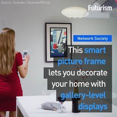 Tired of seeing the same picture in your house? This smart picture frame lets you change it as often as you like! #maker