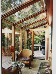 another sunroom { i'm a fan} and the wonderful deck.
