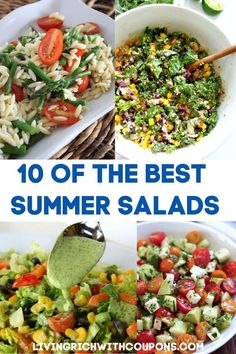 10 of the Best Summer Salads You Can Make That Are Super Easy Take advantage of all of the best summer produce and avoid turning on the oven with 10 of the Best Summer Salad recipes. Best Summer Salads, Summer Salad Recipes, Summer Vegetarian Recipes, Healthy Summer, Easy Cooking, Healthy Cooking, Healthy Eating, Dinner Healthy, Cooking Light