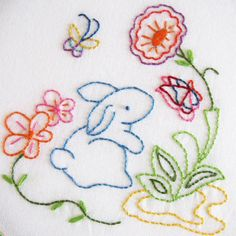 Sweet bunny embroidery