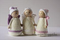Crochet Gifts, Free Crochet, Knit Crochet, Christmas Presents, Christmas Diy, Crochet Christmas, Crochet Angels, Hobbit, Needlework