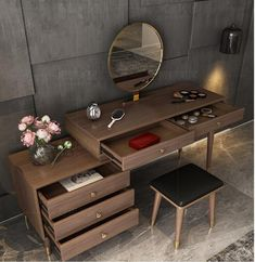 Light luxury dressing table bedroom simple modern small apartment Nordic net red ins makeup table multi-functional economy Dressing Table Modern, Bedroom Dressing Table, Make Up Tisch, Home Furniture, Furniture Design, Casa Loft, Table And Chair Sets, Small Apartments, Bedroom Simple