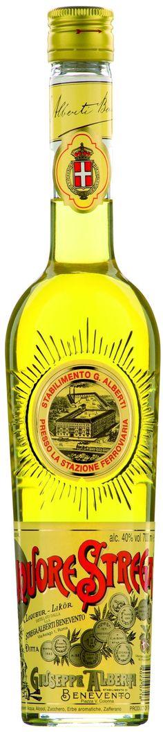 """Licor de 70 hierbas y hierbas """"Liquore Strega"""" - Strega Alberti Benevento S.p.A., Campania, Italia"""