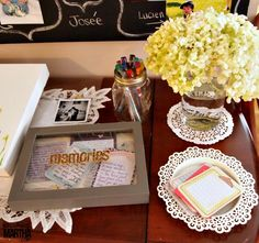 Have people write down their favorite memories with the celebrated couple