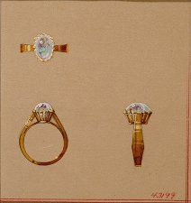 Simplicity? A design for Cartier in NYC by Lorenzo Homar in the 1940's