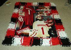 OU Fleece Blanket... Need one in OSU cowboys!!!!
