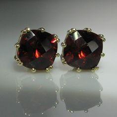 Garnet Earrings in Gold Jewelry Box, Jewelery, Vintage Jewelry, Gold Jewelry, Garnet Earrings, Pearl Earrings, Diamond Rings, Diamond Engagement Rings, Galway Ireland