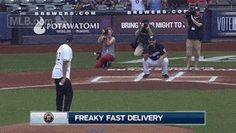 Brewers Waste No Time Getting Jabari Parker to Throw Out First Pitch for a [GIF]   FatManWriting
