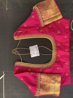 Best 12 Latest Checks Pattern Work Blouse Designs for 2019 – SkillOfKing. Cutwork Blouse Designs, Wedding Saree Blouse Designs, Pattu Saree Blouse Designs, Simple Blouse Designs, Stylish Blouse Design, Blouse Neck Designs, Wedding Sarees, Sari Blouse, Hand Work Blouse Design