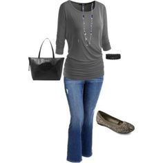Plus size casual fall outfit