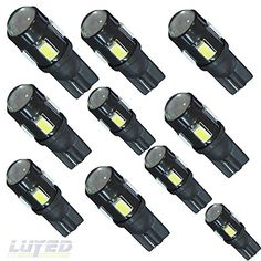 LUYED 10 x T10 5630 6-smd 240 Lumens White Color W5W 194 168 2825 LED Bulbs used for Signal Lights, Trunk Lights, Dashboard Lights, Parking Lights LUYED http://www.amazon.com/dp/B017OXVGC6/ref=cm_sw_r_pi_dp_L9.wwb1QDRYGD