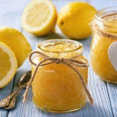 Citronová marmeláda s vanilkou a černým pepřem Stevia, Lemon Jam, Greek Recipes, Nutella, Chutney, Glass Jars, Sugar Free, Low Carb, Cooking Recipes