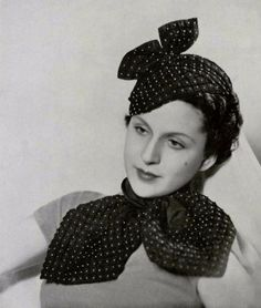 vintage everyday: 1930s: One of the Best Periods of Women Hat Fashion