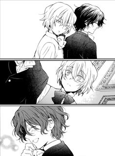 Young Gil and Vincent in the Pandora hearts extra. Cutest X3